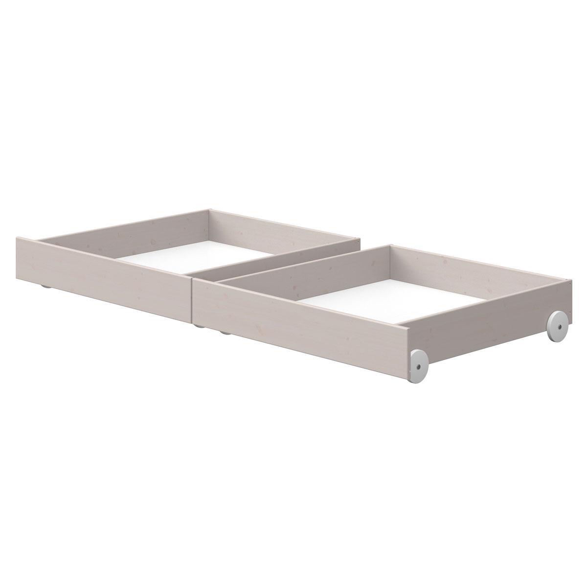 2 Schubladen Bett 90x200cm CLASSIC Flexa grey washed