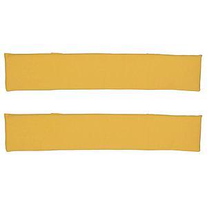 2 Zargenpolster DELUXE de Breuyn in gelb
