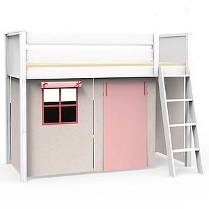 4 teiliges Vorhangset für Hochbett KASVA Debreuyn Viena pink