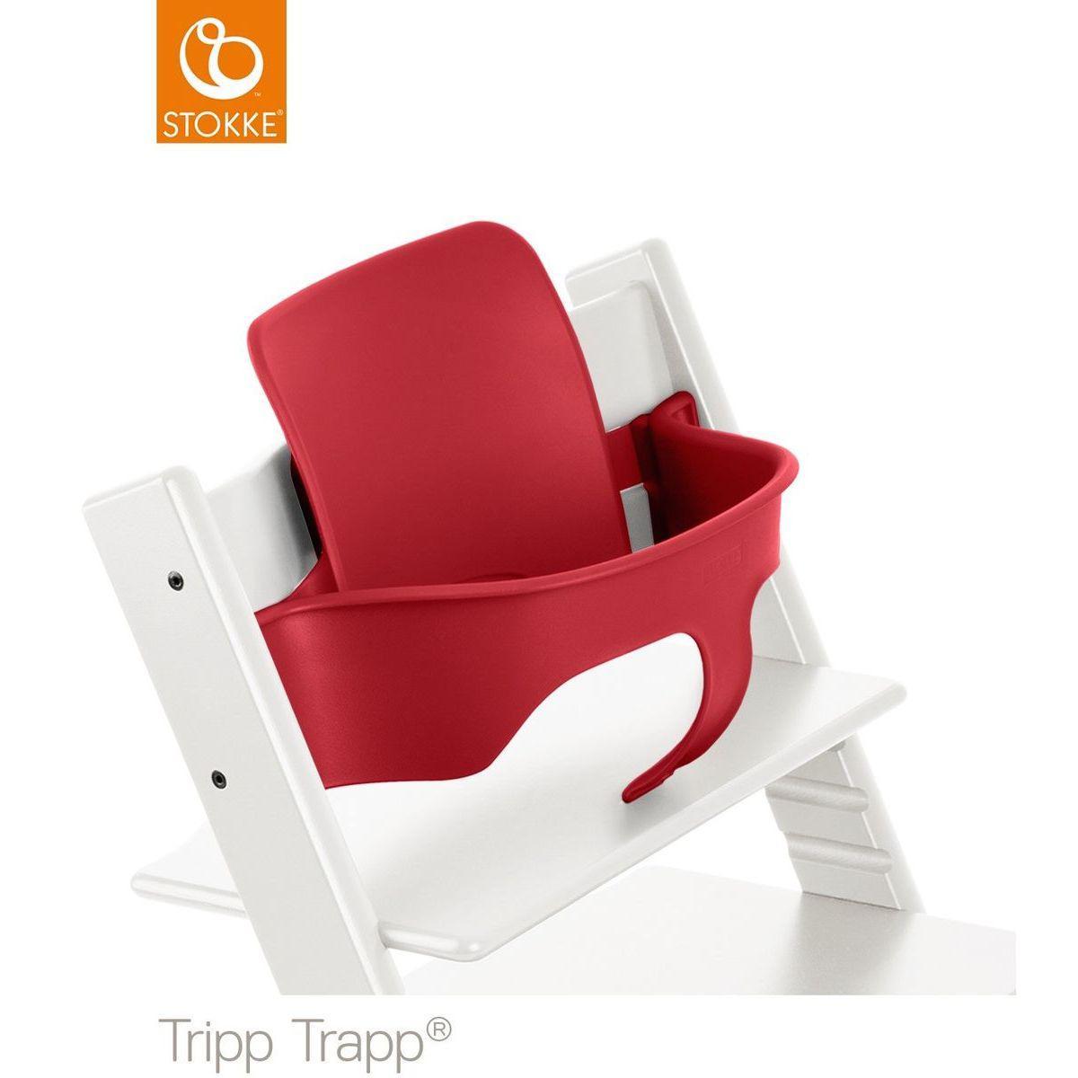 Baby Set Hochstuhl TRIPP TRAPP Stokke red