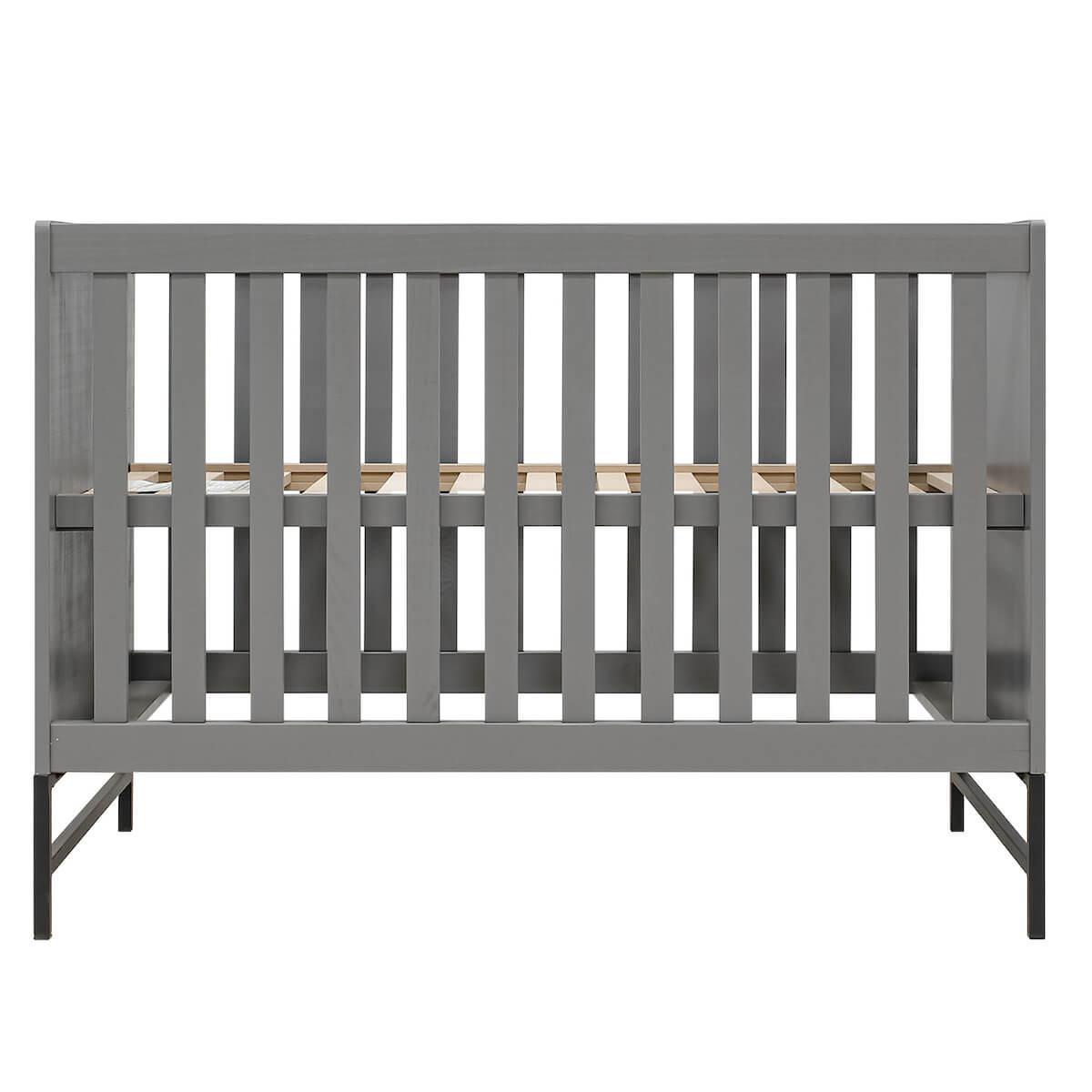 Babybett 60x120cm MILO Bopita Steel Grey