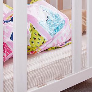 Babybett DESTYLE de Breuyn Buche massiv weiß deckend lackiert