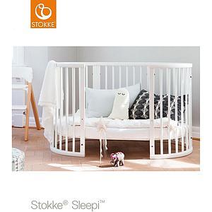 Babybett mitwachsend 120cm SLEEPI Stokke hazy grey