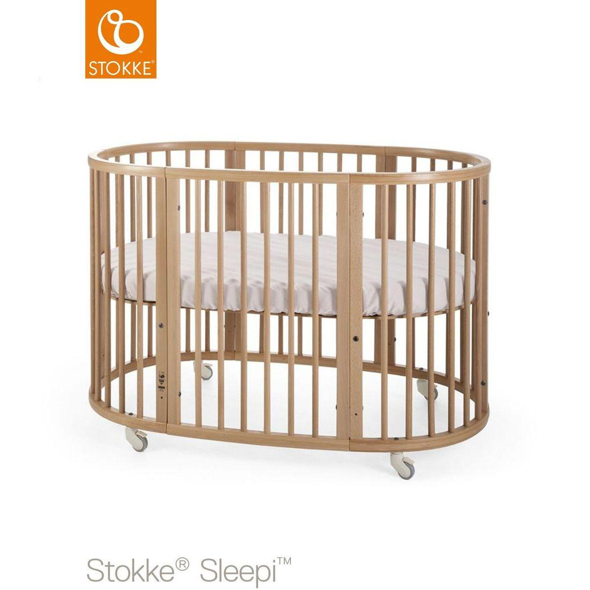Babybett mitwachsend 120cm SLEEPI Stokke natural