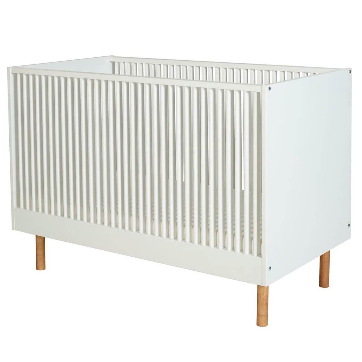 Babybett mitwachsend 60x120cm HEIKO Quax weiß