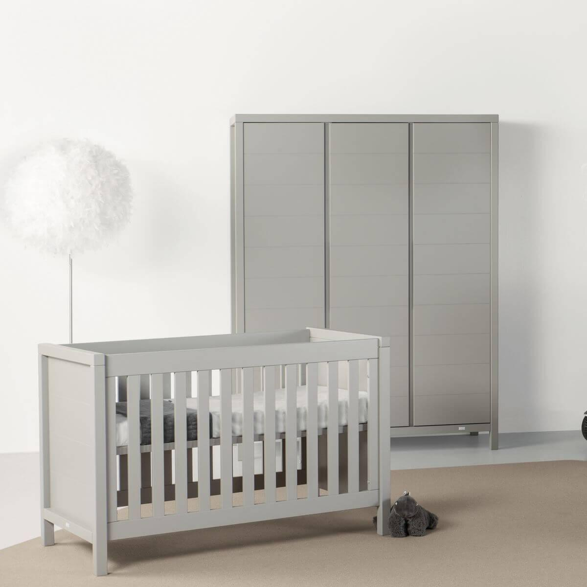 Babybett mitwachsend 60x120cm STRIPES Quax Griffin grey