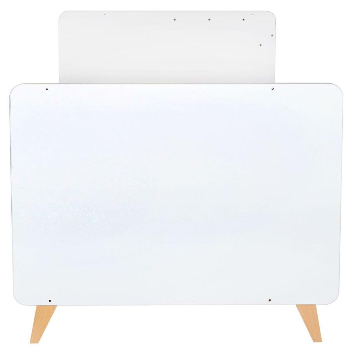 Babybett mitwachsend 60x120cm/90x200cm Quax white