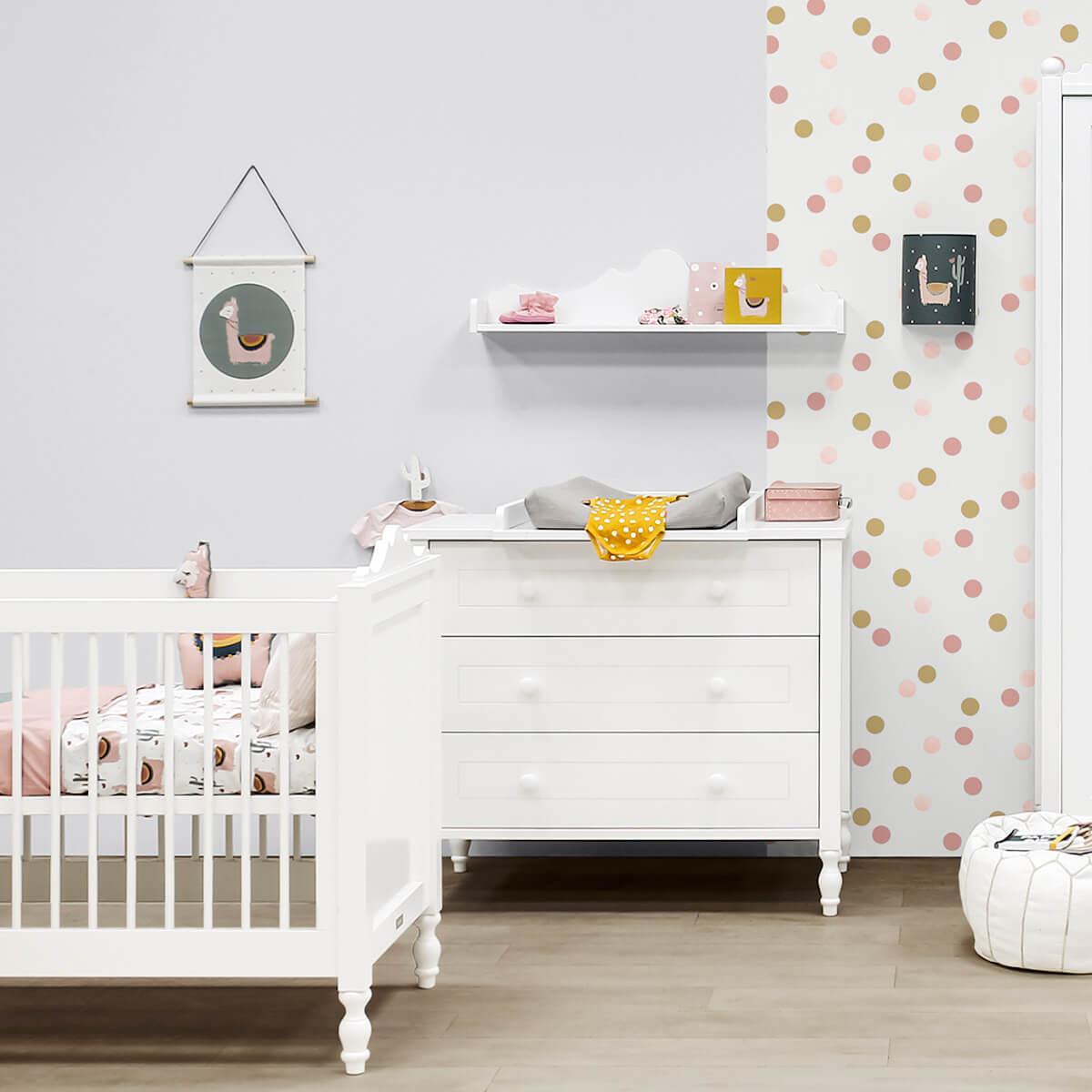 Babybett mitwachsend 70x140cm BELLE Bopita Blanc