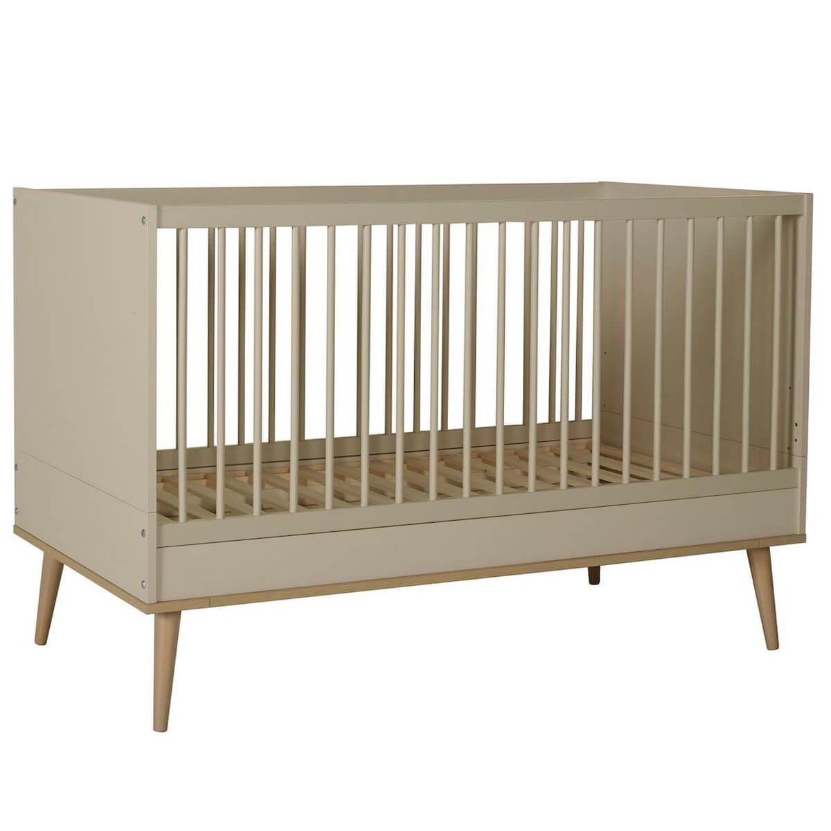 Babybett mitwachsend 70x140cm FLOW Quax Chêne naturel-Clay