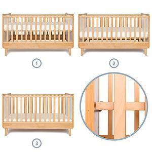 Babybett mitwachsend 70x140cm NADO