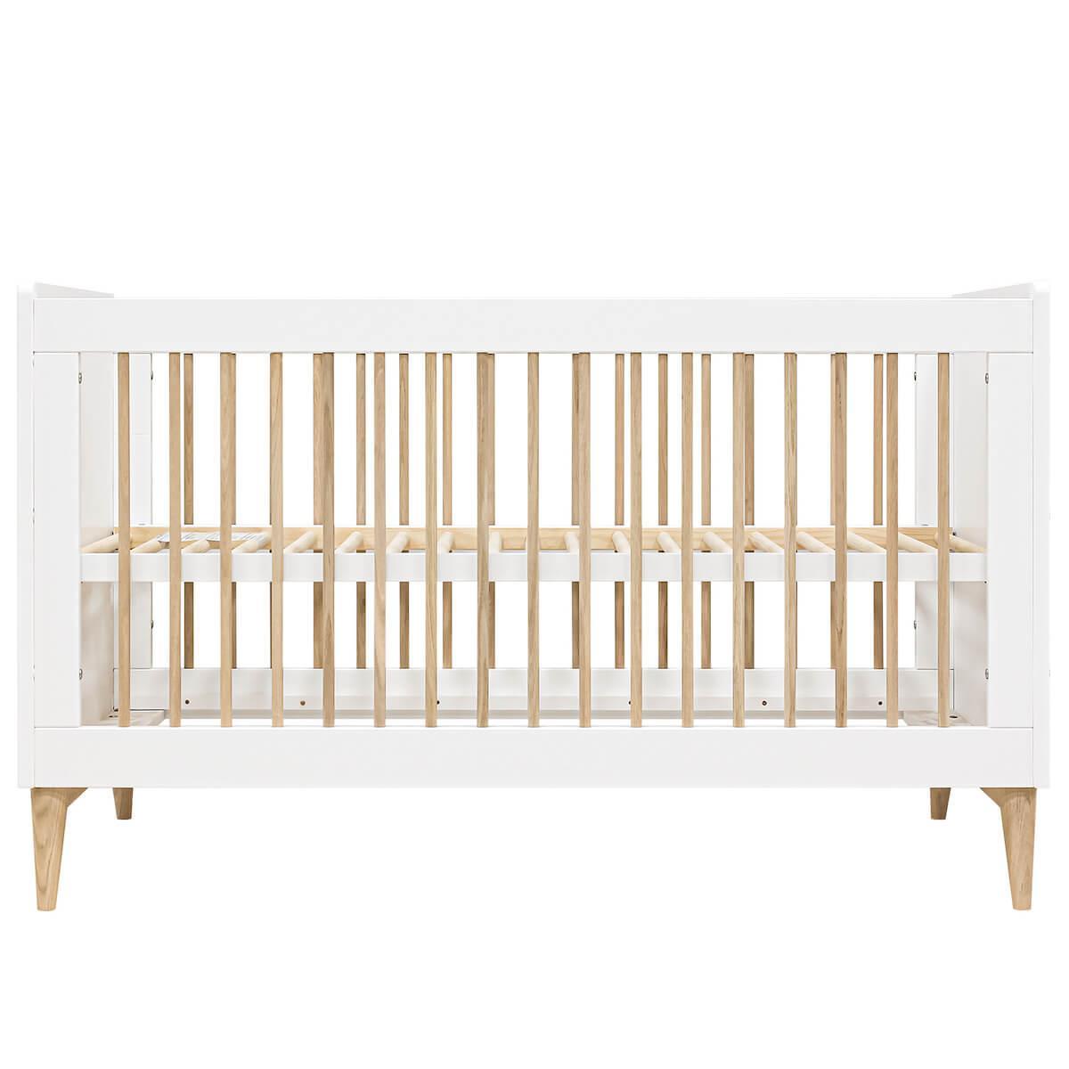 Babybett mitwachsend 70x140cm PARIS Bopita Weiß-Eiche