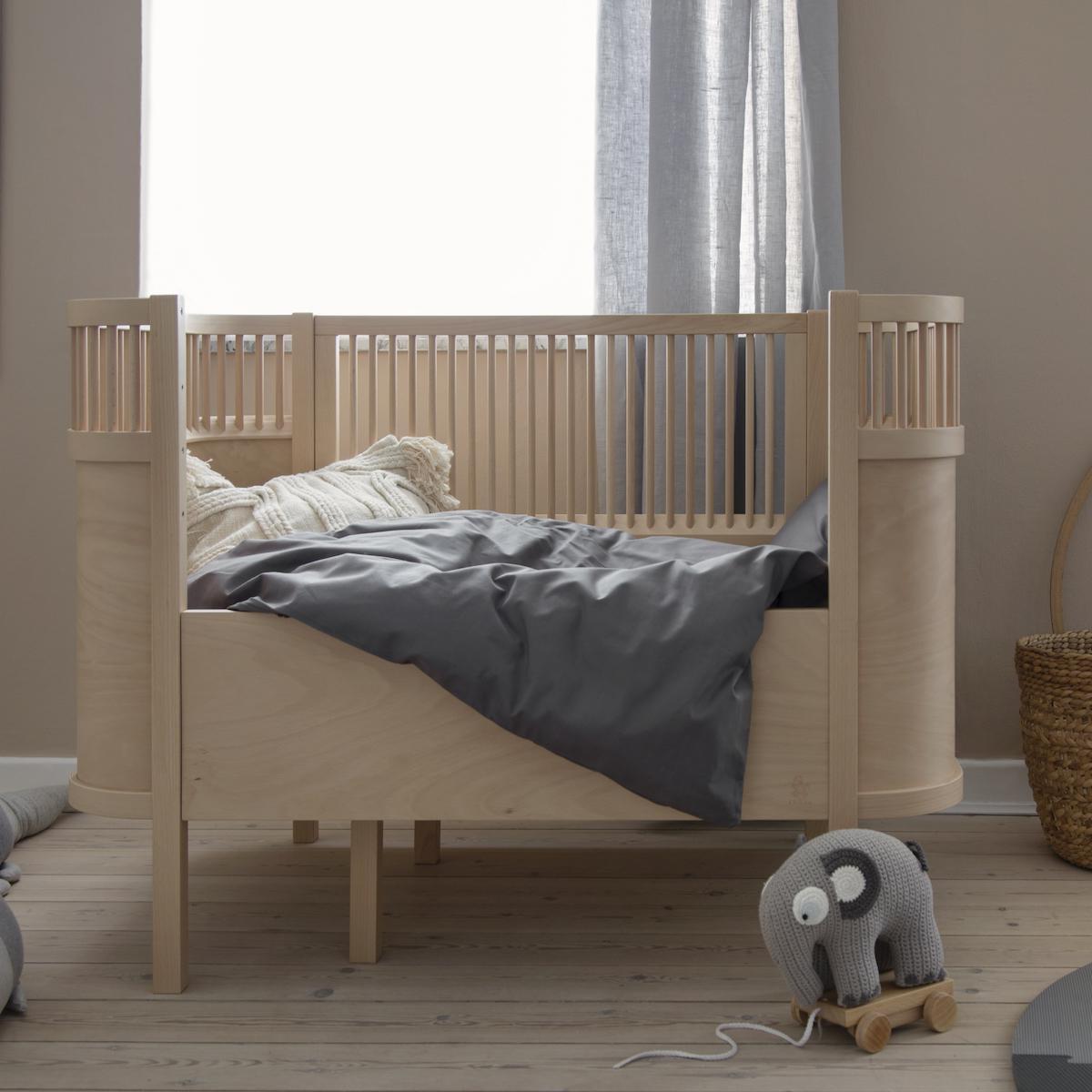 Babybett mitwachsend Sebra Buchenholz