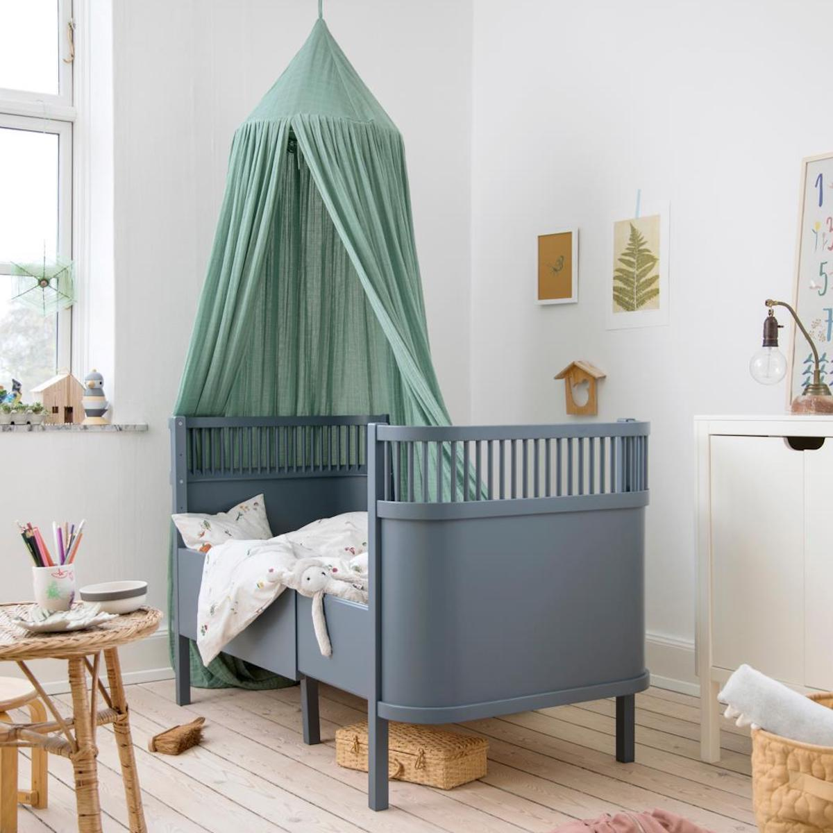 Babybett mitwachsend Sebra Forest Lake blue