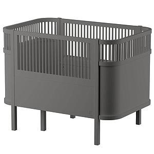 Babybett mitwachsend Sebra grau classique