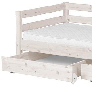 Bett 90x190cm + 2 Schubladen CLASSIC LINE by Flexa whitewash