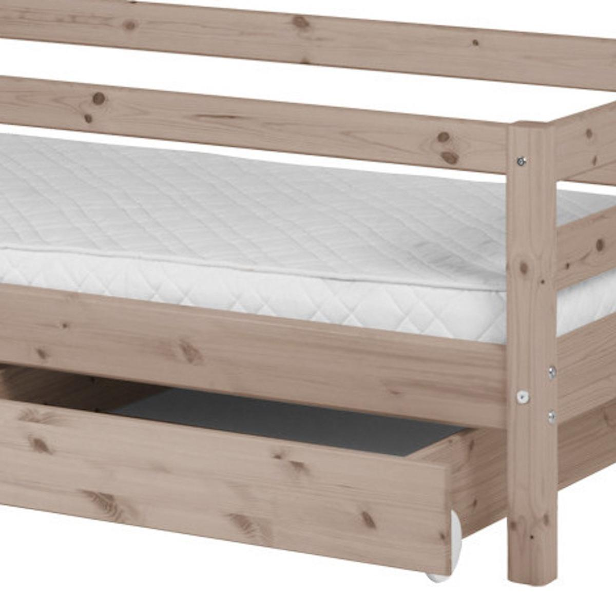 Bett 90x200cm + 2 Schubladen CLASSIC LINE by Flexa terra