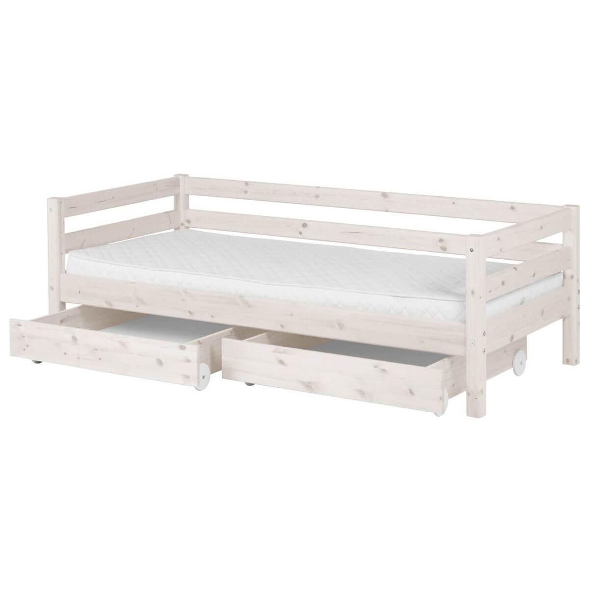 Bett 90x200cm + 2 Schubladen CLASSIC LINE by Flexa whitewash