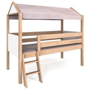 Bett-Aufbausatz Sondermodell DELITE De Breuyn Buchenholz-Weiß