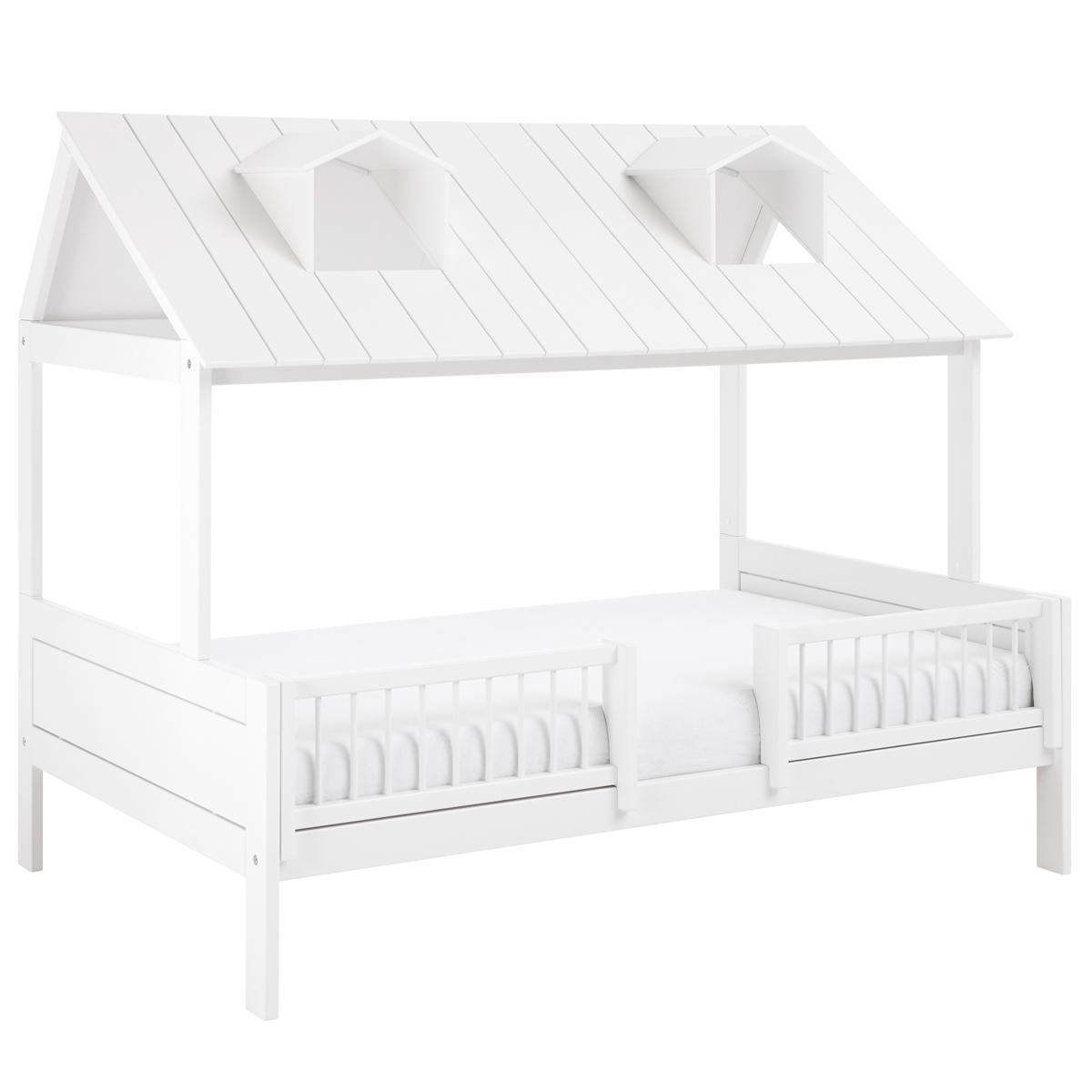 Bett mit Deluxe Lattenrost 120x200cm BEACH HOUSE Lifetime weiß