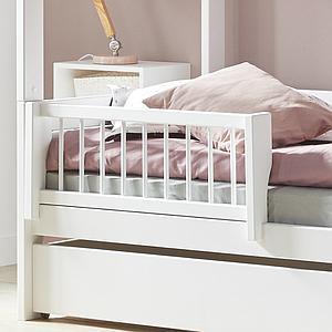 Bett + Rollrost 90x200cm BEACH HOUSE Lifetime weiß