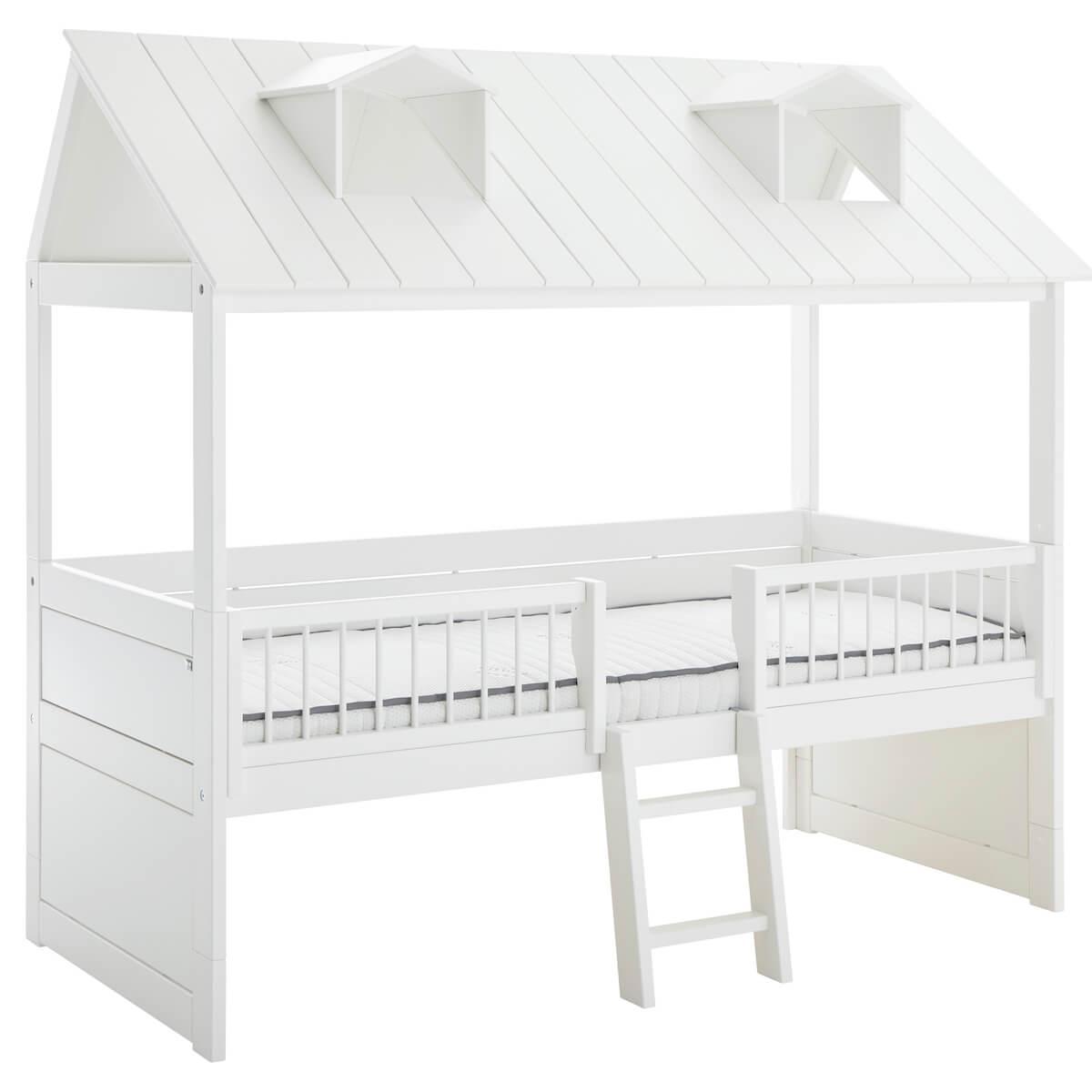 Bett + Rollrost 90x200cm zentrale Leiter BEACH HOUSE Lifetime weiß