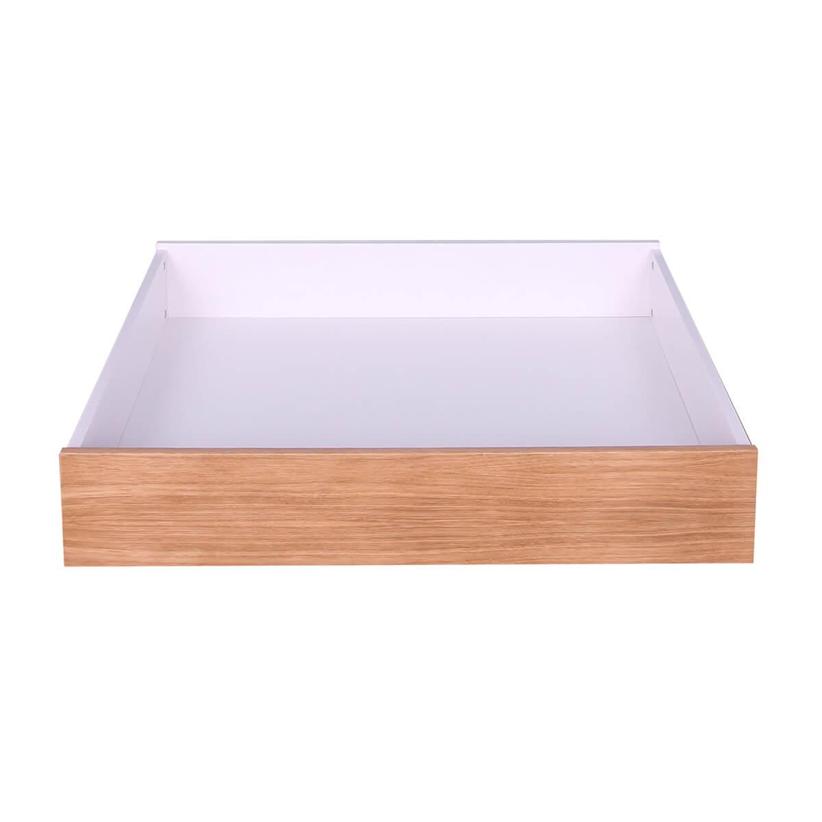 Bettkasten 1stk KASVA Mdf weiß-lackiert Multiplex Eiche-furniert