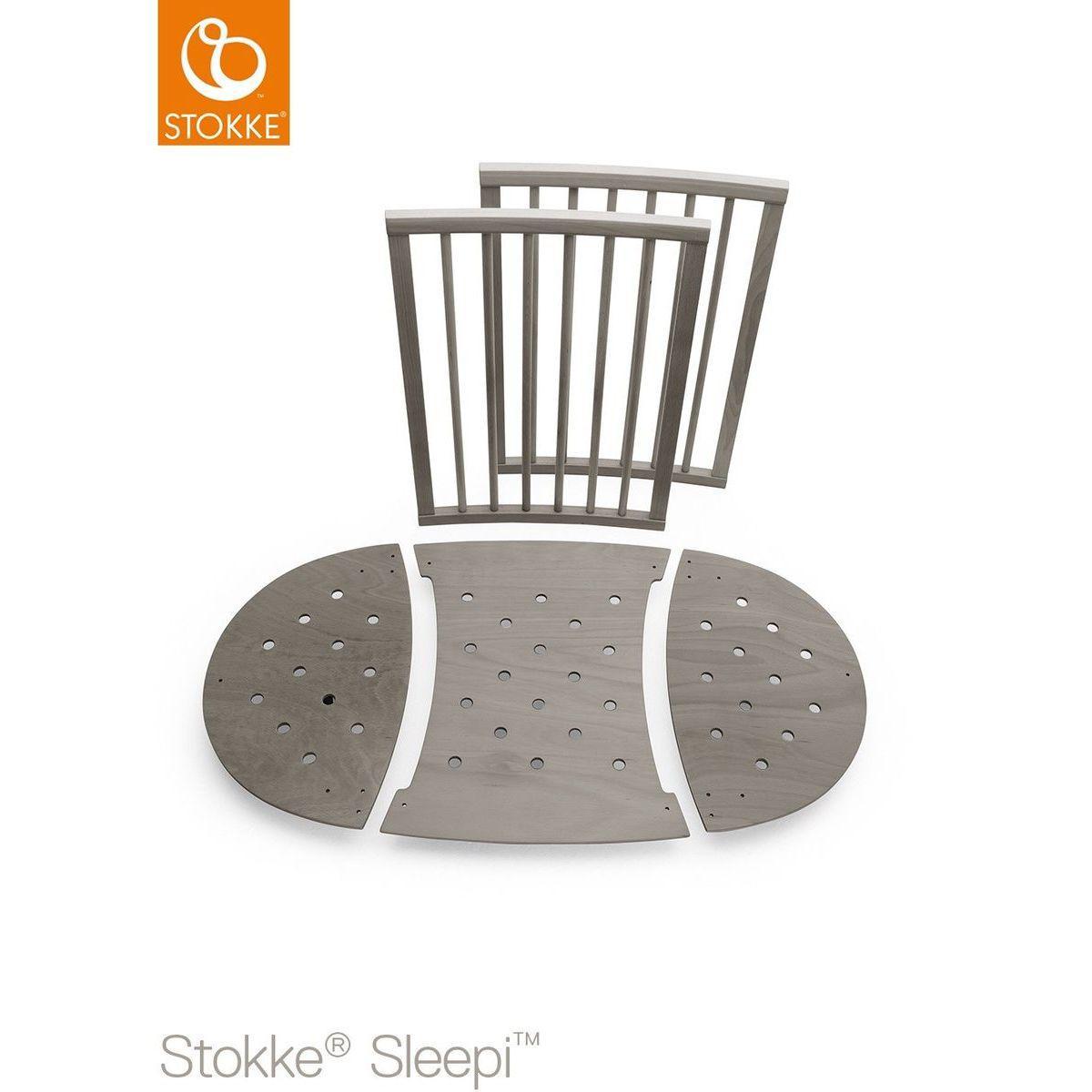 Bettverlängerung Babybett SLEEPI Stokke hazy grey