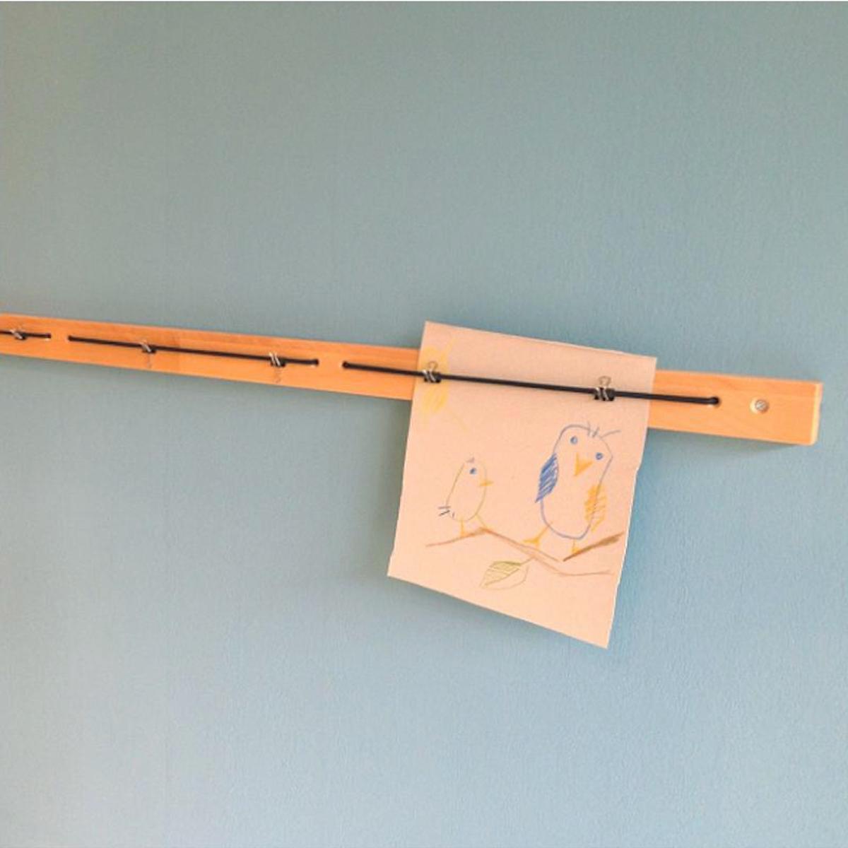 Bilderleiste DESTYLE de Breuyn 120cm Buche-natur geölt schwarzes Gummiband