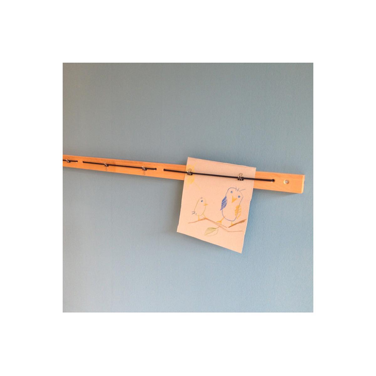 Bilderleiste DETAIL Debreuyn 120cm Buche-natur geölt schwarzes Gummiband