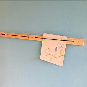 Bilderleiste ZIGGY de Breuyn 120cm Buche-natur geölt schwarzes Gummiband