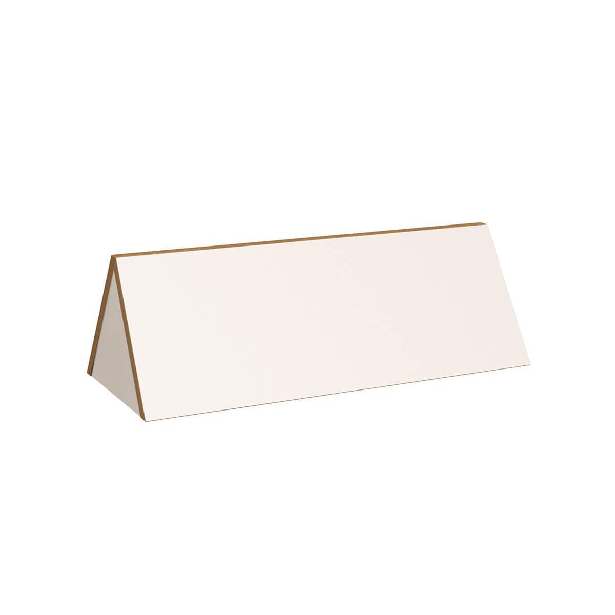 Bücheraufsatz DECOR Debreuyn - Melamin weiß mit Buchenkante