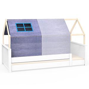 Dachbespannung mit Fenster KASVA Debreuyn Bobble green and blue