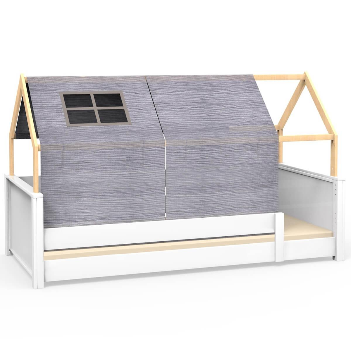 Dachbespannung mit Fenster KASVA Debreuyn Bobble grey
