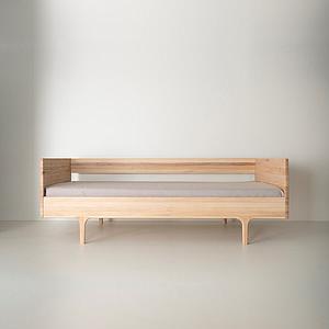 Divan Twin 90x206cm CARAVAN Kalon Studios Esche massiv natur-weissöl
