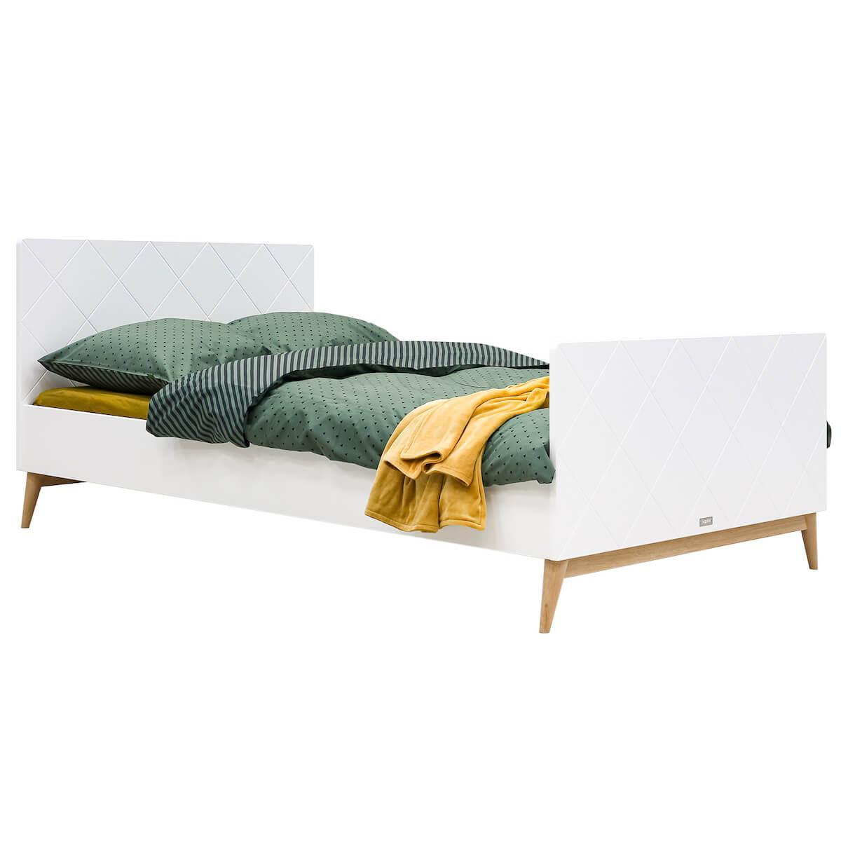 Doppelbett 120x200cm PARIS Bopita Weiß-Eiche