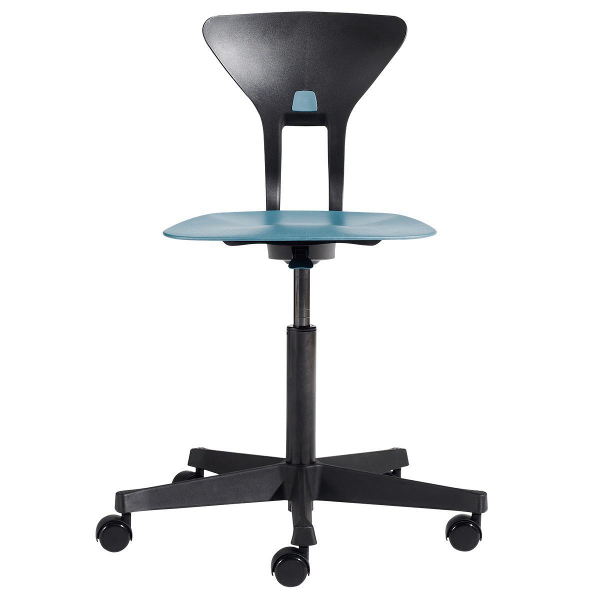 Drehstuhl mit ergonomischer Sitzfläche RAY by Flexa blau
