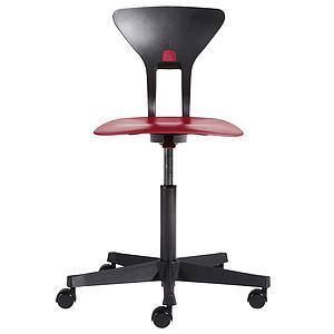 Drehstuhl mit ergonomischer Sitzfläche RAY by Flexa rot