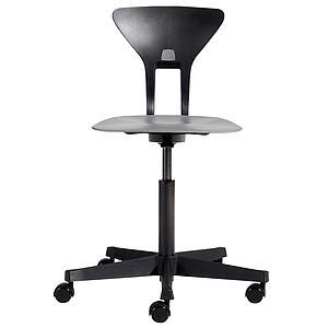 Drehstuhl mit ergonomischer Sitzfläche RAY by Flexa schwarz