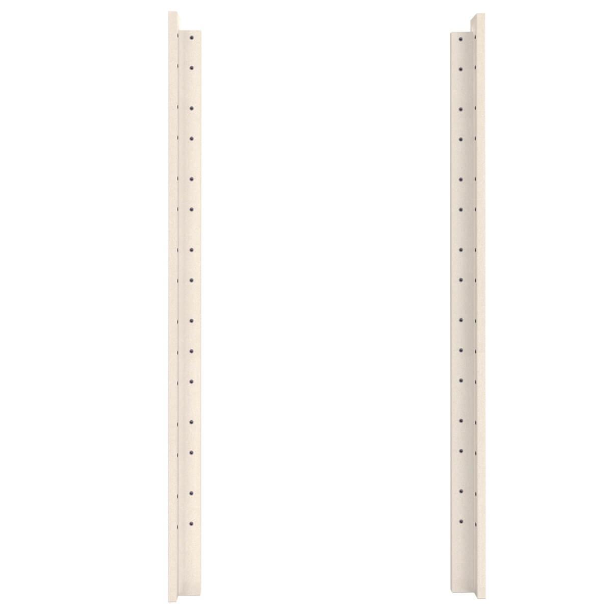 Eckpfosten hoch 184cm 2-Stück Bettzubehör DESTYLE Debreuyn Buche massiv weiß gebeizt-lackiert