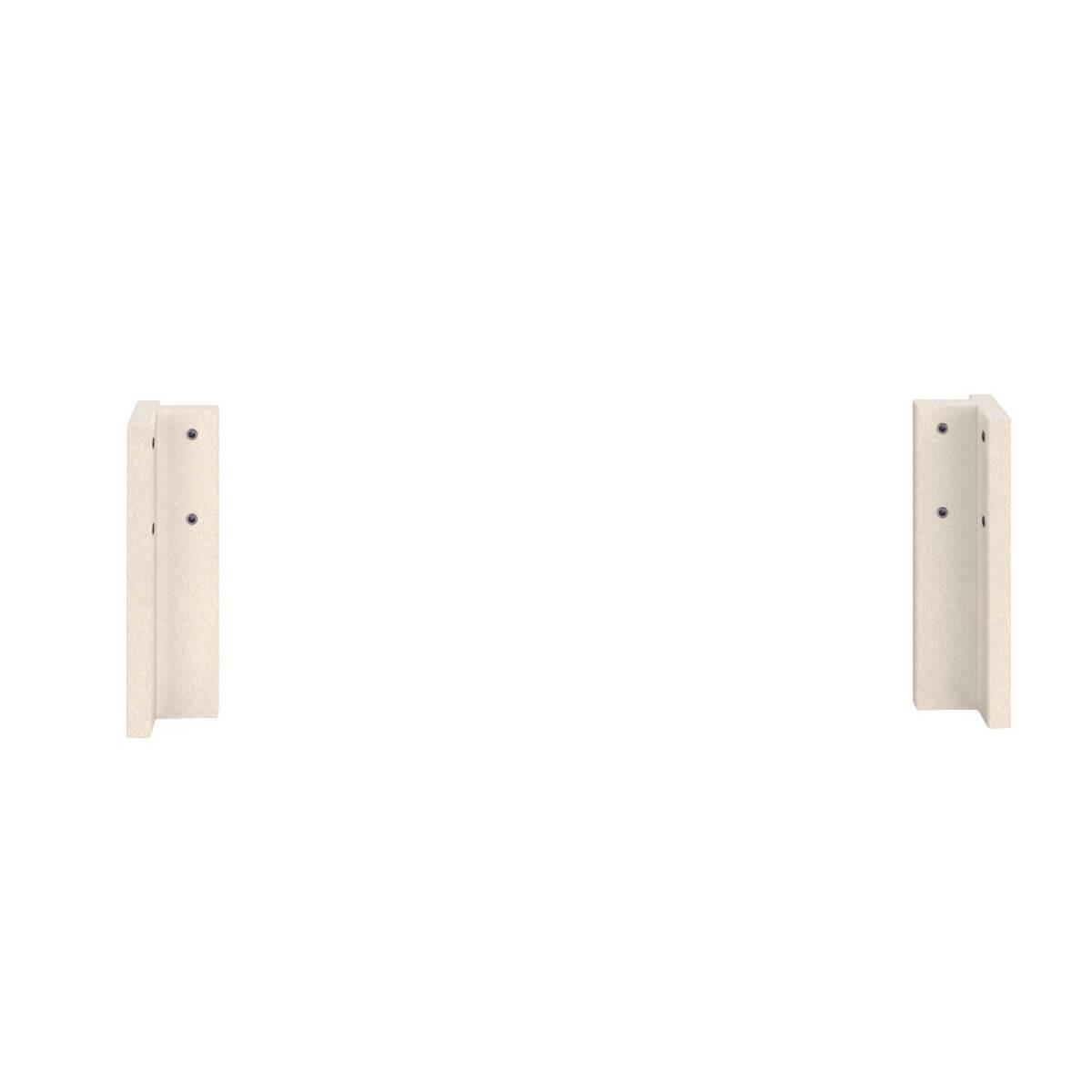 Eckpfosten klein 35cm 2-Stück Bettzubehör DESTYLE Debreuyn Buche massiv weiß gebeizt-lackiert