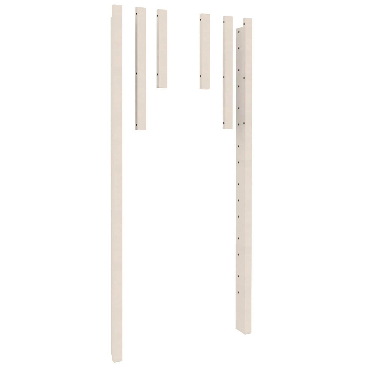 Eckpfosten Twin-over-Full  2-er Set DESTYLE de Breuyn Buche massiv weiß gebeizt-lackiert