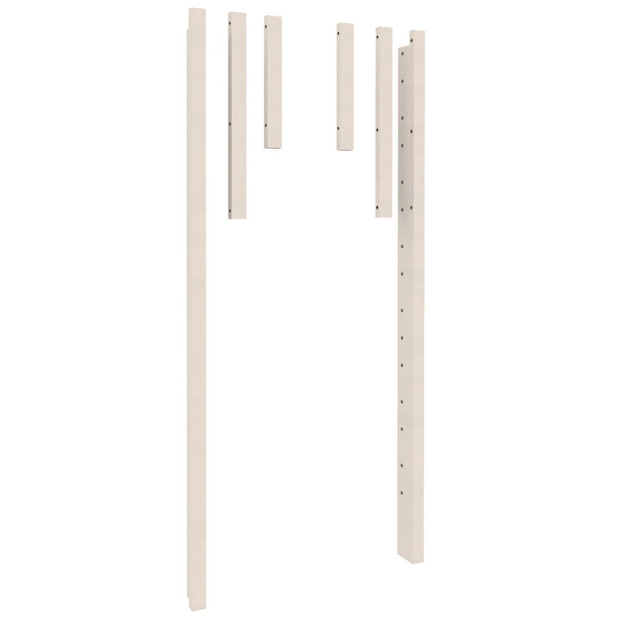 Eckpfosten Twin-over-Full  2-er Set DESTYLE Debreuyn Buche massiv weiß gebeizt-lackiert
