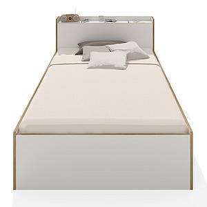 Einzelbett NOOK Mueller CPL-weiß, Liegefläche 1000x2000 mm,