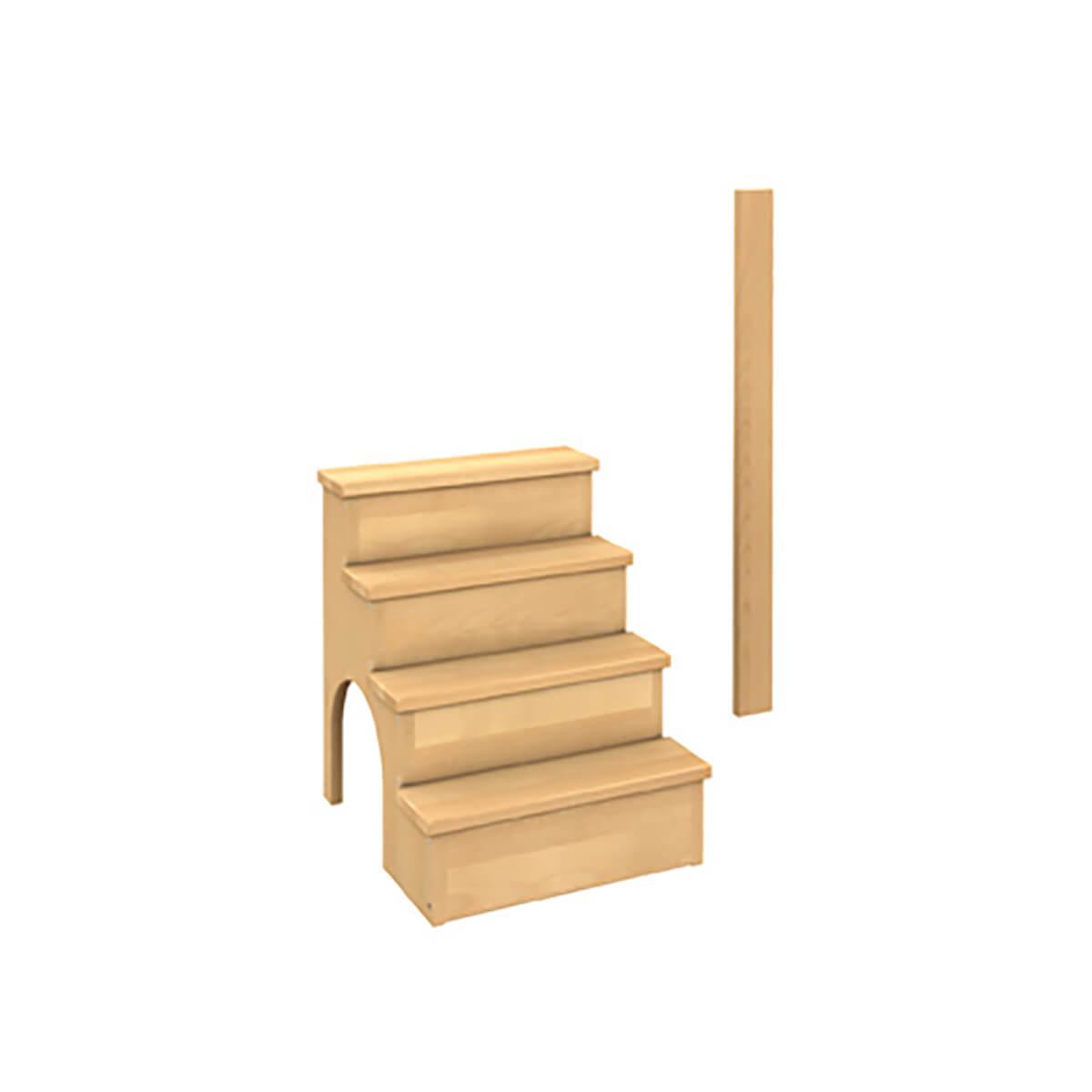 Erweiterung - Treppe und Mittelpfosten DELUXE Debreuyn Buche natur geölt