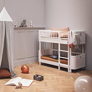Etagenbett 68x162cm MINI+ Oliver Furniture Weiß