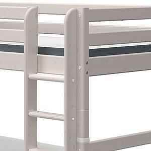 Etagenbett 90x190cm gerade Leiter 2 Schubladen CLASSIC grey washed