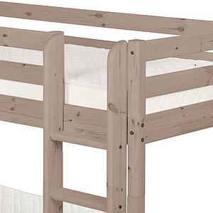 Etagenbett 90x200cm + gerade Leiter CLASSIC by Flexa terra