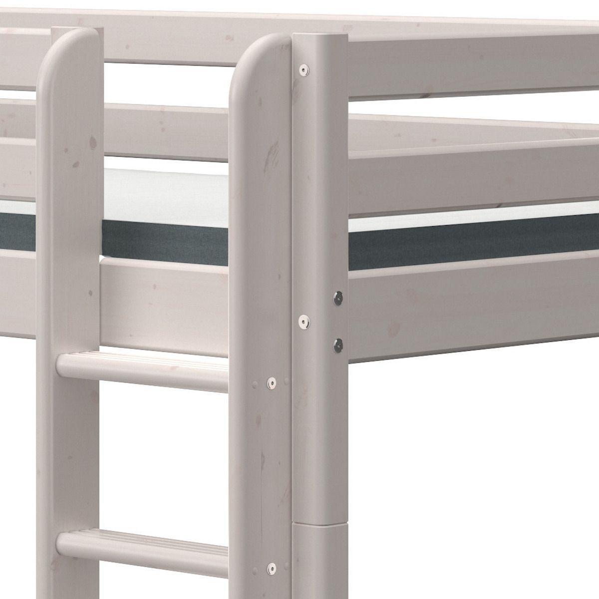 Etagenbett 90x200cm gerade Leiter CLASSIC grey washed
