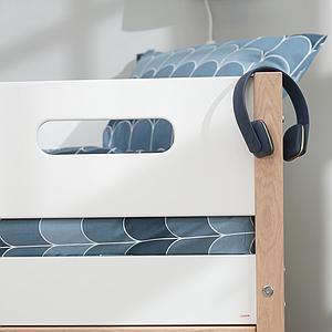Etagenbett hoch mitwachsend 90x200cm NOR Flexa Eiche-weiß