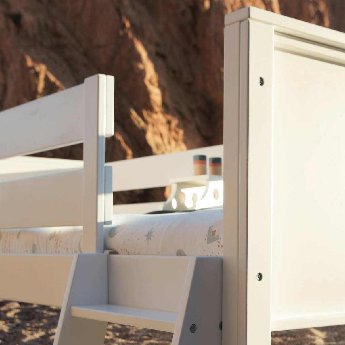 Etagenbett KASVA Buche massiv weiß-lackiert